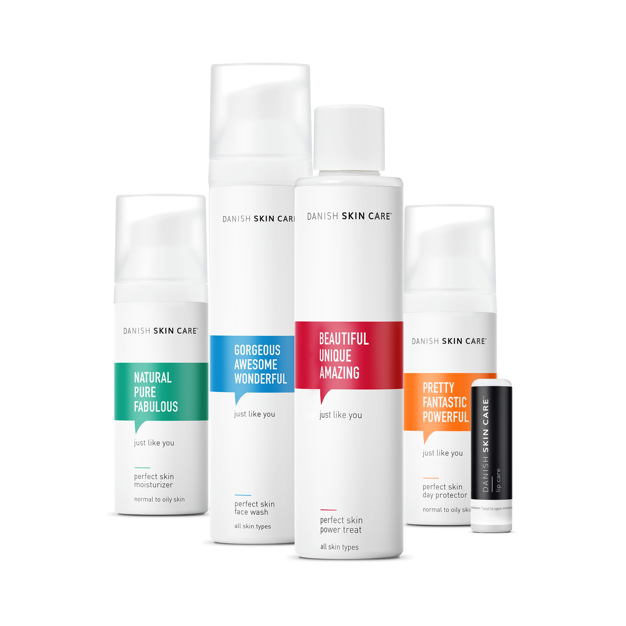 Danish Skin Cares skin care kit with lip care included