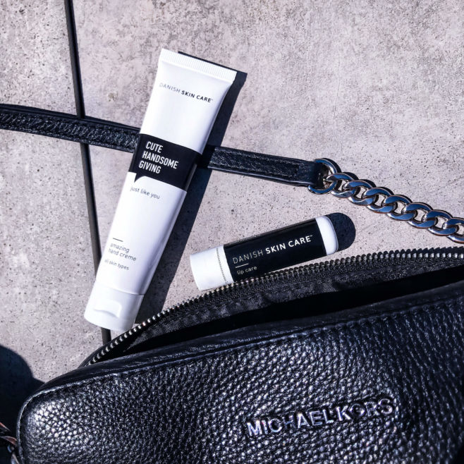 lipcare hand creme purse bag